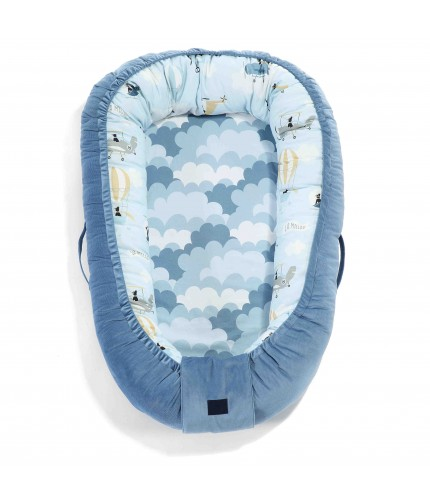 La Millou Babynest Velvet Collection Captain Adventure - Denim