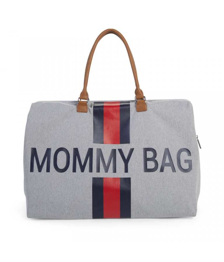 Image of   Childhome Mommy Bag Pusletaske - Grå Med Striber